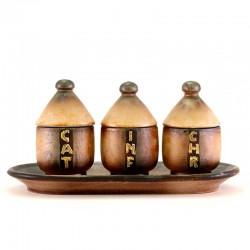 Servizio Oli Santi in ceramica 11 cm