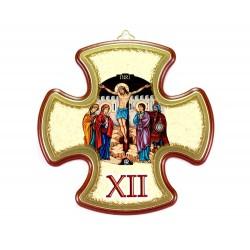 Via Crucis croce in mdf 14,5x14,5 cm