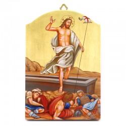 Via Crucis su tavole in legno dorato serigrafate 22x32 cm