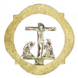 Via Crucis ottone bicolore 14 stazioni 17x17 cm