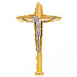 Croce Astile ottone dorato Corpo argentato 200 cm