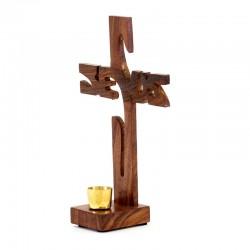 Jesus Cross in olive wood 21 cm