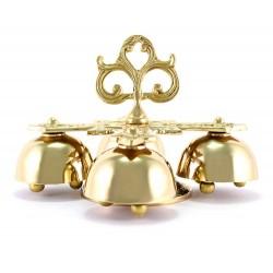 Campanello 4 suoni metallo dorato 12 cm