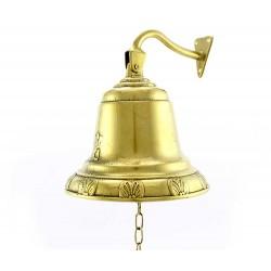 Campana da muro in ottone dorato 17 cm