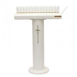 Candeliere Votivo elettronico metallo bianco 31 candele led