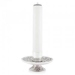 Candeliere corteccia base con simboli Eucaristici 8 cm