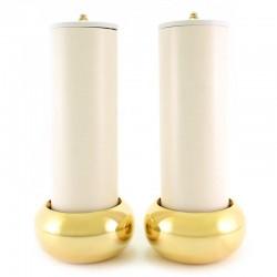 Coppia candelieri da altare completi 8x25 cm