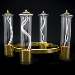Advent Candle Holder for Liquid Wax Candles Diameter 20 cm