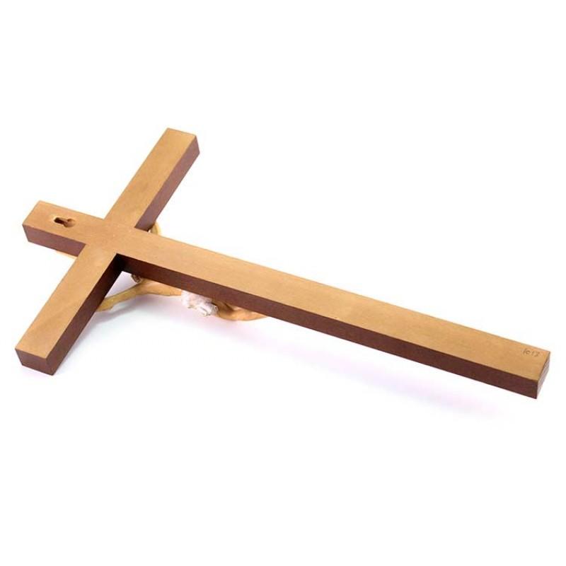 Crocifisso di legno da 29cm,Ges/ù Cristo,Sacra Bibbia,acqua santa,idea regalo da appendere alla parete