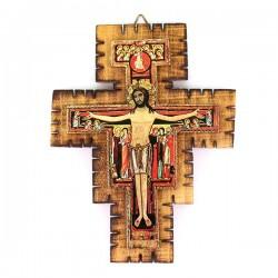 Crocifisso San Damiano in legno 12x16 cm