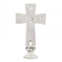 Scenes from the life of Jesus Table Cross in metal 19 cm