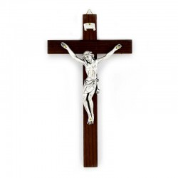 Wooden cross with metal body Crucifix  10x19 cm