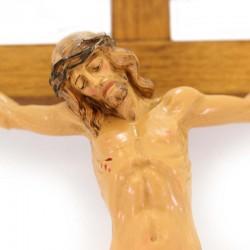 Wooden Crucifix body of Jesus in polyethylene 21x38 cm