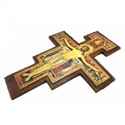 Saint Damien Crucifix dark wood 55X75 cm