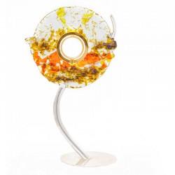 Ostensorio Albero in vetro gambo argentato 54 cm