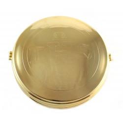 Teca Ostia Magna in ottone 3 cm Diametro 17 cm