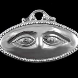 Metal Ex Voto Smooth Eyes 11x7 cm