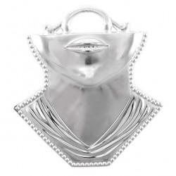 Metal Ex Voto Throat and Chin 12x13 cm