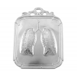 Ex voto in metallo polmoni 9x12 cm