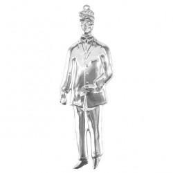 Metal Ex Voto Standing Man 7x22 cm