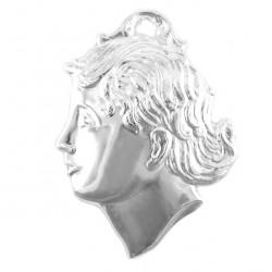 Metal Ex Voto Child Head 8x10 cm