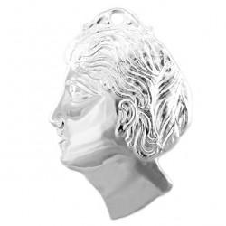 Metal Ex Voto Woman Head 9x14 cm