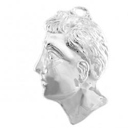 Metal Ex Voto Man Head 9x13 cm