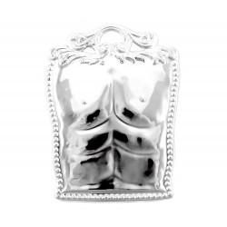 Ex voto in metallo torace maschile 9x11 cm