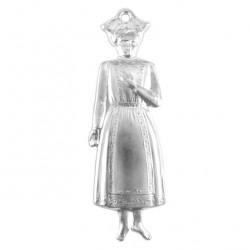 Metal Ex Voto Standing Girl 5x16 cm