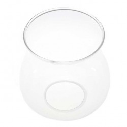 Glass Flame Protector for plastic candle diameter 3,8 cm