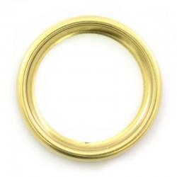 Ghiera in metallo dorato foro Diametro 4 cm