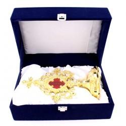 Golden Brass Reliquary 24 cm