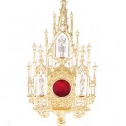 Gothic Golden Metal Reliquary 57 cm