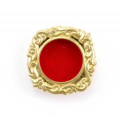 Reliquiario giglio metallo dorato 3 cm