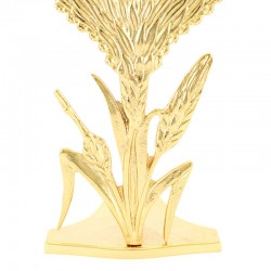 Golden Brass Reliquary with Spikes 31 cm