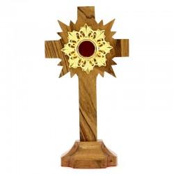 Reliquiario in legno teca in metallo 30 cm