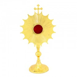 Ray halo Reliquary with golden metal spikes 35 cm
