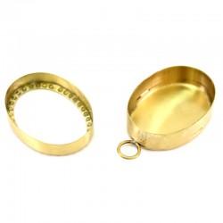 Reliquary oval metal frame 4.5x6 cm