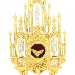 Gothic style Reliquary with lunette 40 cm
