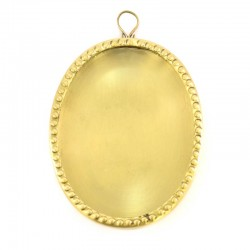 Reliquary oval frame in metal 8x10 cm