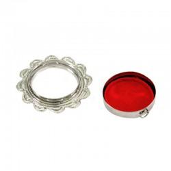 Reliquary Drop silver metal Diameter 5 cm