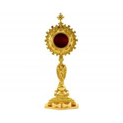 Reliquiario Fusione Semplice dorata 43 cm