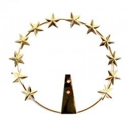 Stellario Madonna in ottone dorato a 12 stelle
