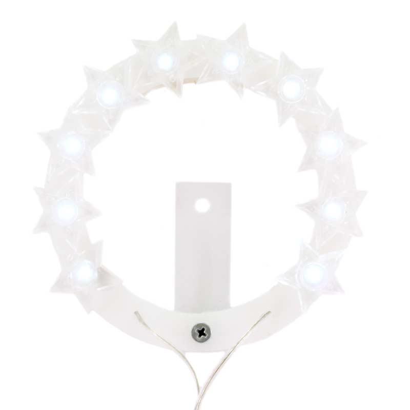 Coroncina Votiva Luminosa STELLARIO-CON LED BIANCHi DIAMETRO CM 22