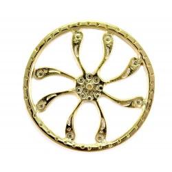 Aureola metallo dorato 8 virgole D 5,5 cm