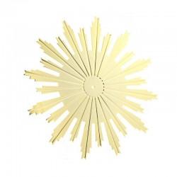 Raggera dorata raggi incisi in ottone in diverse misure