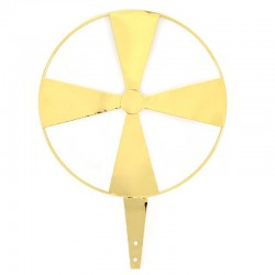 Raggiera elica in ottone dorato