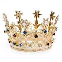 Corona Reale per statua in metallo dorato diametro 20 cm