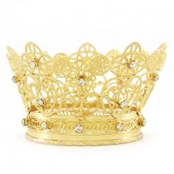 Corona Reale per statua in metallo dorato Diametro 10 cm