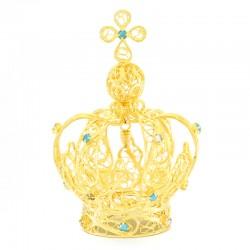 Corona per statua semplice in metallo 12 cm Diametro 5 cm